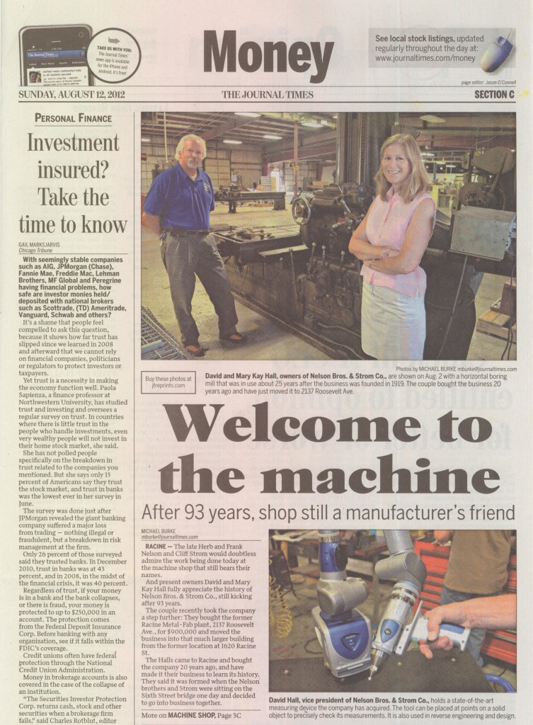 Nelson Brothers & Strom Featured in the Racine Journal Times