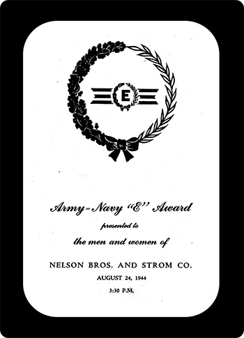 Navy E Award Nelson Brothers and Strom