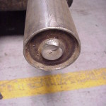 Broken Roller End Before Repair from Nelson Brothers and Strom